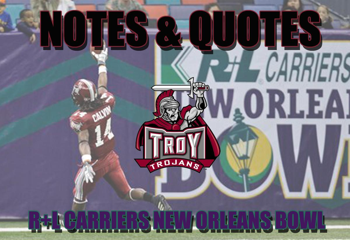Notes and Quotes from New Orleans - Troy University Athletics