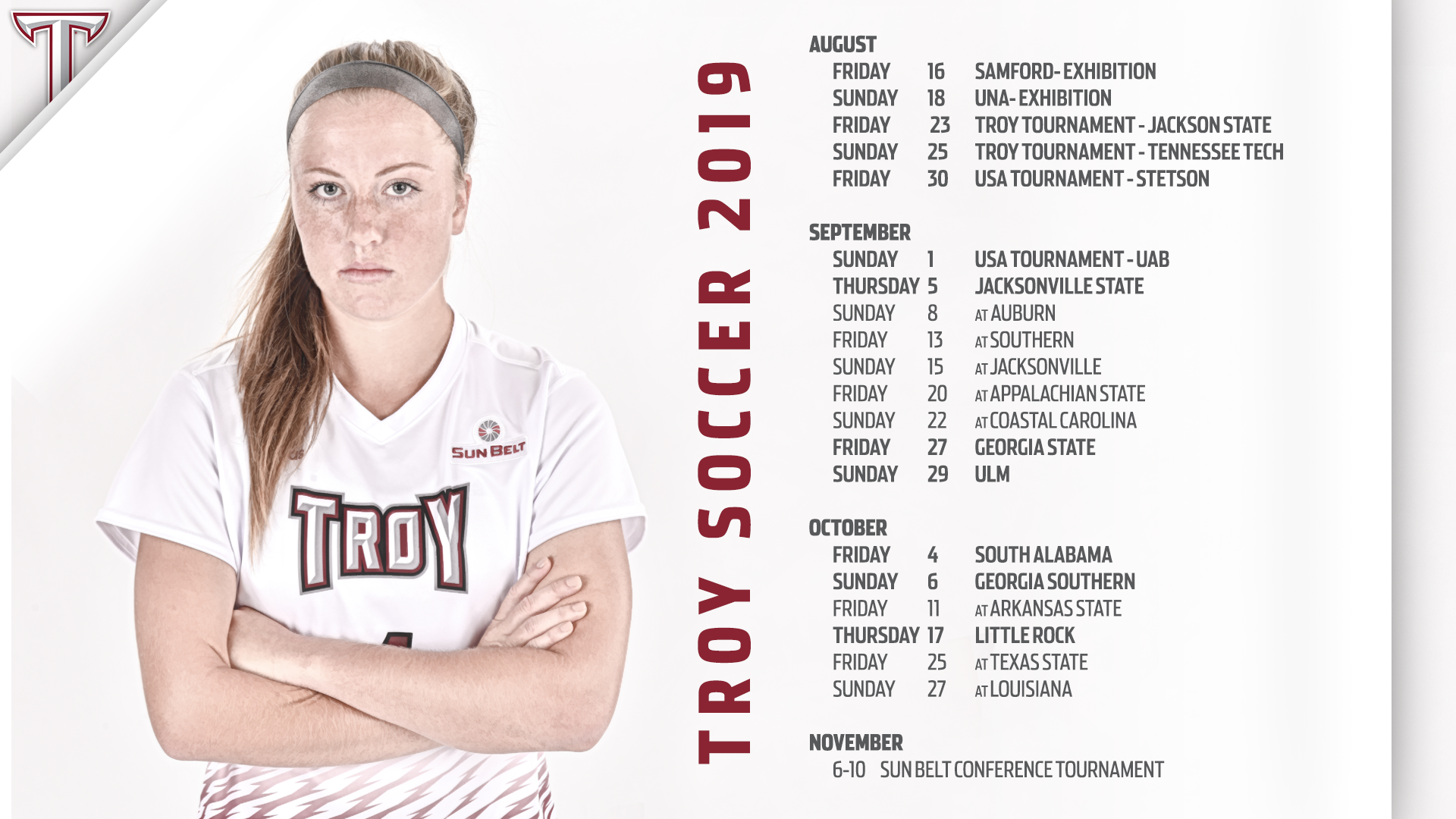 9871cd97 2019 Troy Soccer Schedule Announced - Troy University Athletics